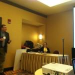 Dr. Jack Levine starts the second health track workshop.