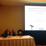 Dr.Dina Lieser and Dr.Evelyn Blank presented on developmental screening.