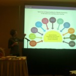 Sara  Welge presented the opportunities for obesity prevention.